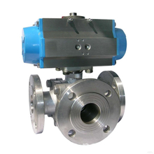 3Way Pneumatic Ball Valve With ISO5211 Mounting Pad